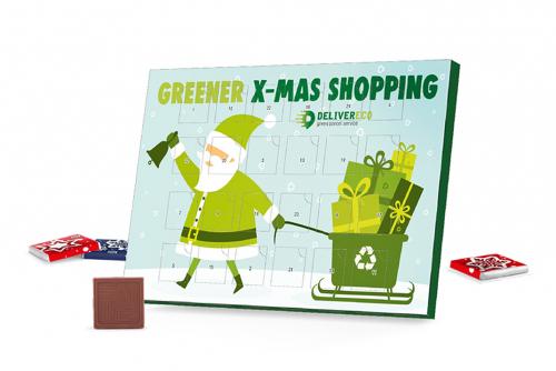 Advent calendar 100% cardboard, with print