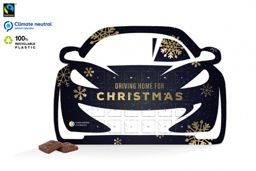 Advent calendar in car format with print